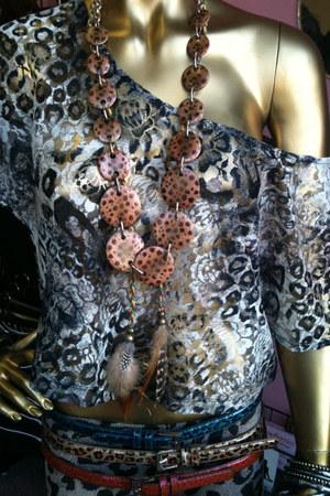 leopard print unbranded blouse