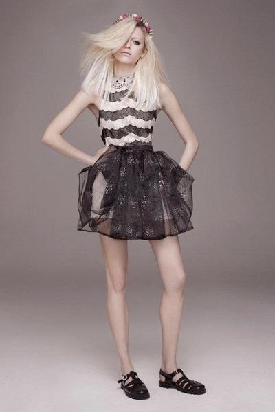 black Topshop dress - black Topshop sandals