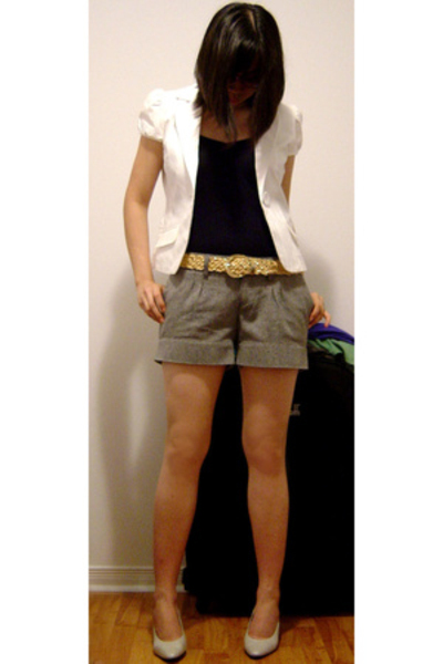 Guess blazer - H&M top - H&M shorts - Nine West shoes