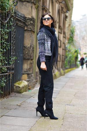 black Deichmann heels - H&M blazer - charcoal gray Topshop sunglasses
