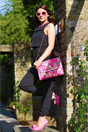 bubble gum TK Maxx bag - hot pink Primark blazer - bubble gum Boohoo sunglasses