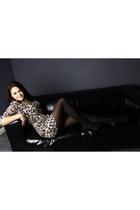 black heeled Dorothy Perkins shoes - animal print Zara dress