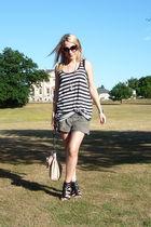H&M top - River Islnad shorts - Zara accessories - asos top - accessories - shoe