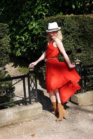 rust Selfridge dress