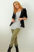 River Island jacket - H&M top - River Island boots - Zara -