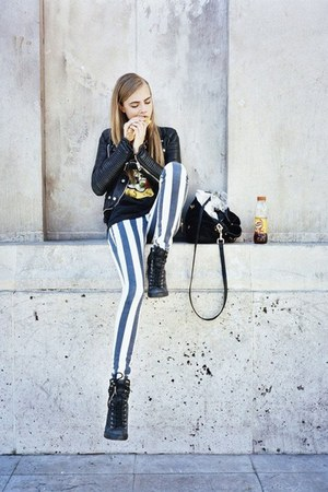black and white jeans