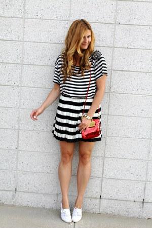 Keds shoes - coach bag - H&M skirt - H&M top
