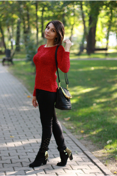 leather studs Zara shoes - studs Zara pants