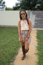 Light-brown-bershka-boots-nude-mizar-dress-dark-brown-mango-belt