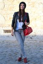 Zara boots - Zara jeans - Sfera jacket - Zara bag - Cortefiel t-shirt