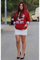 OASAP skirt - Pedro del Hierro shirt - Franklin Marshall hoodie - Primark heels