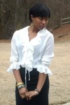 vintage shirt - f21 skirt