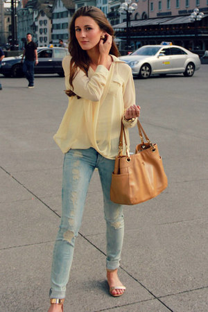 calvin klein bag - H&M jeans - Report sandals - Tobi blouse