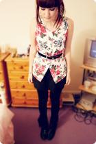 vest - belt - Topshop skirt - Topshop leggings - Faith boots