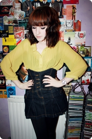 Primark blouse - Topshop skirt - Topshop leggings