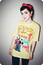 Yellow-t-shirt-blue-topshop-jeans-pink-topshop