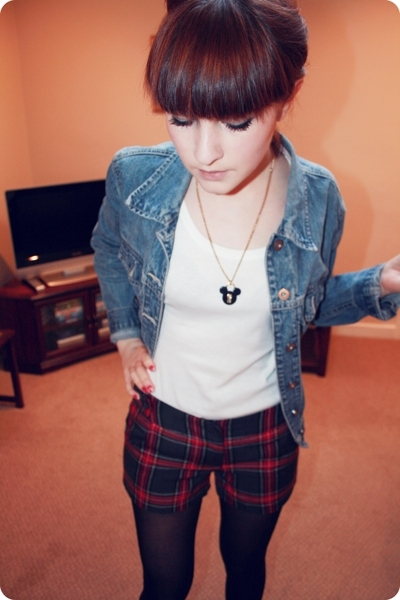 Gap jacket - Primark vest - shorts - Office boots - Disney necklace