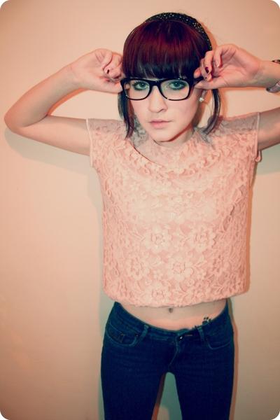 H&M blouse - Topshop jeans