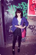 H&M jacket - Miss Selfridge blouse - Topshop skirt - Topshop leggings - Primark