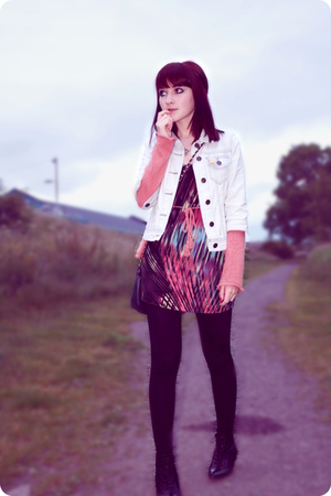Primark jacket - Principles - Topshop dress - Topshop leggings - Office boots -