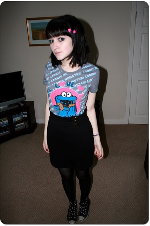 George  asda t-shirt - H&M skirt - Converse - - new look jacket