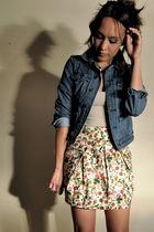 blue Rodarte for Target jacket - beige Forever 21 skirt