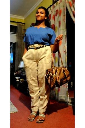 Zara pants - Prada bag - Splash belt - Ralph Lauren top - sandals