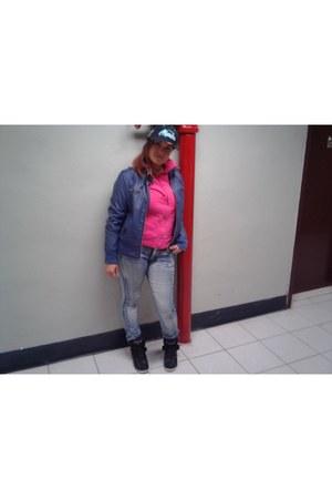 hot pink hi tops Jordans sneakers - hot pink hoody Ralph Lauren sweatshirt