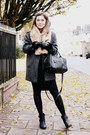 Charcoal-gray-primark-coat-black-primark-skirt