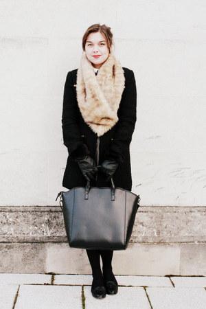 heather gray Seventh Rose Boutique dress - black TK Maxx coat