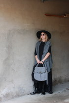 Sonia Rykiel boots - COS dress - wool handmade bag