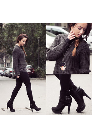 knitted dimensione danza sweater - leather Aldo boots