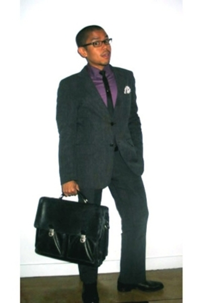 DKNY shirt - H&M suit - martin  osa accessories - Vogue accessories - Francesche