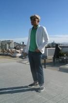 rag & bone top - Uniqlo shirt - H&M jeans - Vans shoes - H&M hat