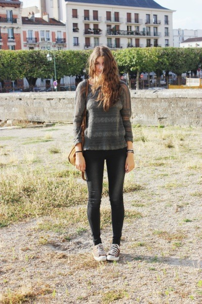 Zara sweater - Converse sneakers