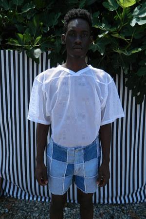 patchwork denim DisciplesOf shorts - Bike top