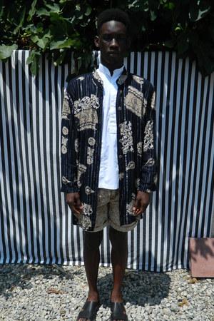 white DisciplesOf shirt - DisciplesOf jacket - acid wash DisciplesOf shorts