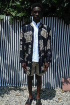white DisciplesOf shirt - DisciplesOf jacket - acid wash DisciplesOf shorts