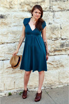 green elle dress - brown Frye Boots shoes - yellow Target hat