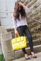 blouse Equipment blouse - skinny Forever 21 jeans - satchel 31 Phillip Lim bag