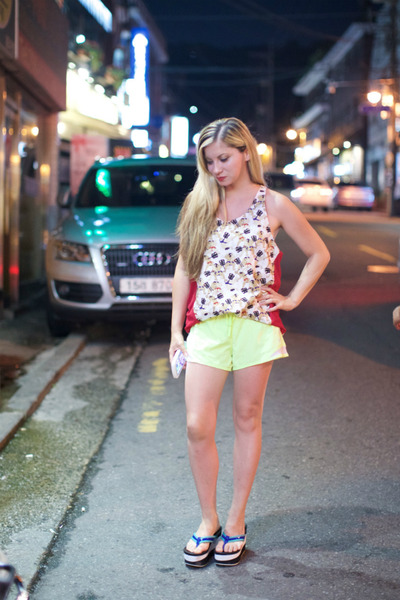 cotton Forever 21 shorts - cotton Varyd top