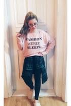 light pink Bershka sweater