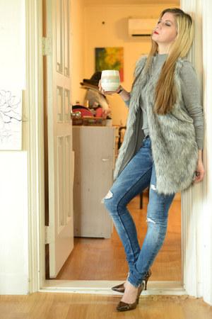 heels Aldo shoes - denim Zara jeans - wool Bershka sweater