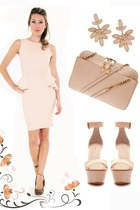 cream peplum dress