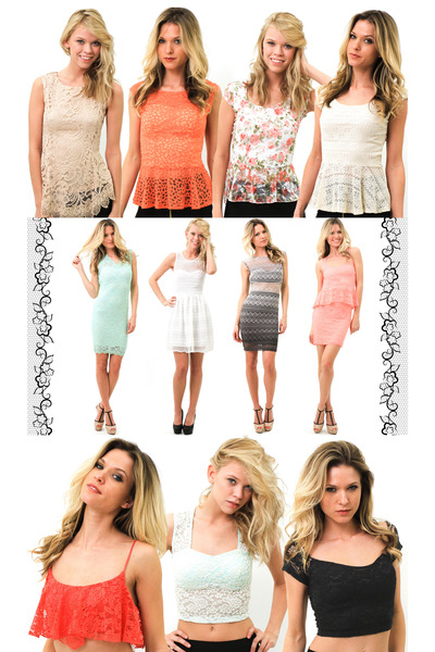 aquamarine lace dress - white lace dress - heather gray lace dress