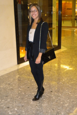 Express blazer - Forever 21 leggings - crown vintage shoes