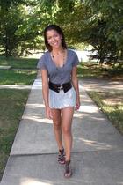 Express shirt - 5-7-9 belt - Old Navy skirt - Blowfish shoes