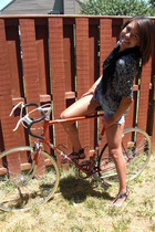 Vintage from my mom top - Homemade from some old jeans shorts - Dolce Vita shoes
