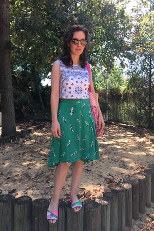 second hand skirt - Walk Slacks shoes - second hand top