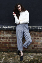 heather gray houndstooth DollsMaison pants